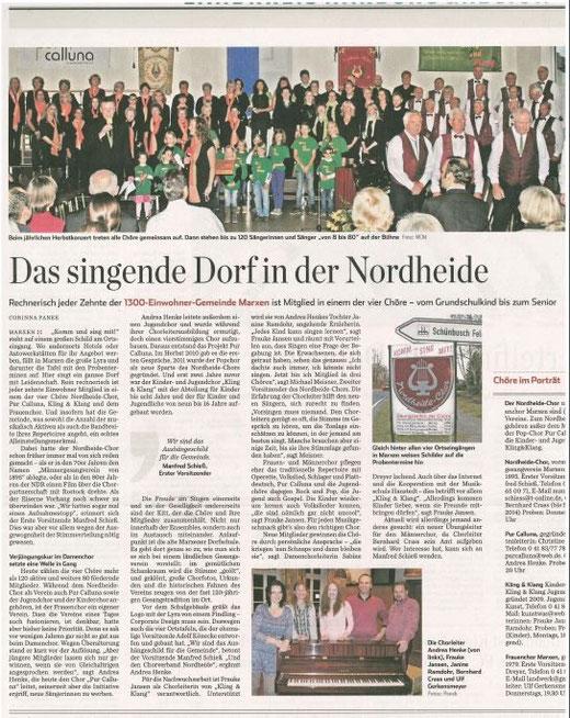 Marxen - das singende Dorf (Abendblatt vom 7.03.2014)