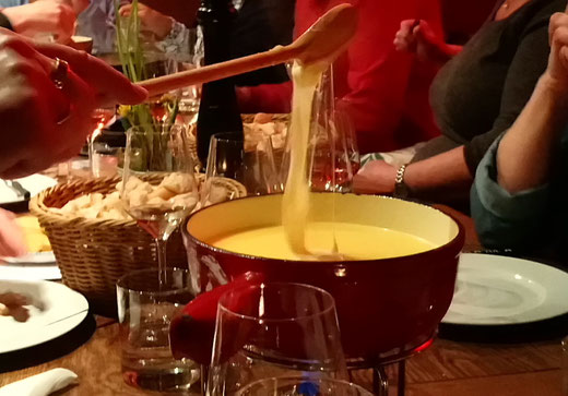 Original Swiss Cheese Fondue with Wine Tasting