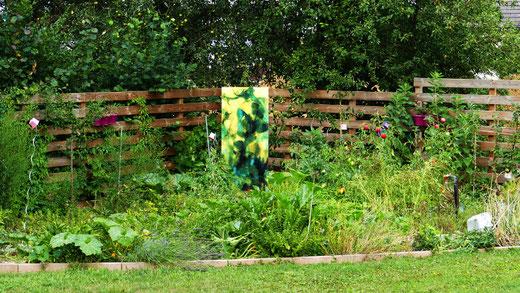 Sylvie Lander-verre-vitraux-jardin-peinture #SylvieLander