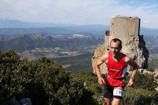 Pascal Massou au Trail de Quéribus 2014