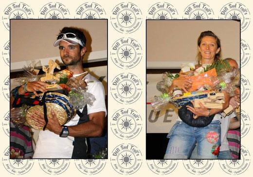 Nicolas Perrier et Céline Tarrius-Hernandez, vainqueurs du Défi Sud Trail's 2014