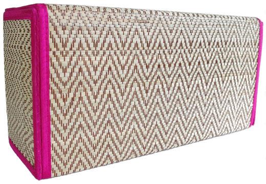 タイシルク アジアン ティッシュ ボックス ケース パッションピンク 【Elephant design, Passion Pink】の商品画像03