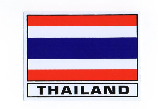 タイ王国 国旗 ステッカー(THAILAND National Flag Sticker ) S サイズ type A 1枚 【Thailand Sticker】の商品画像01