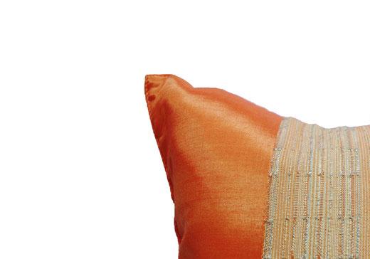 クッションカバー チェンマイ デザイン オレンジ 【Chiang Mai Design , Orange】 40×40cm の商品画像02