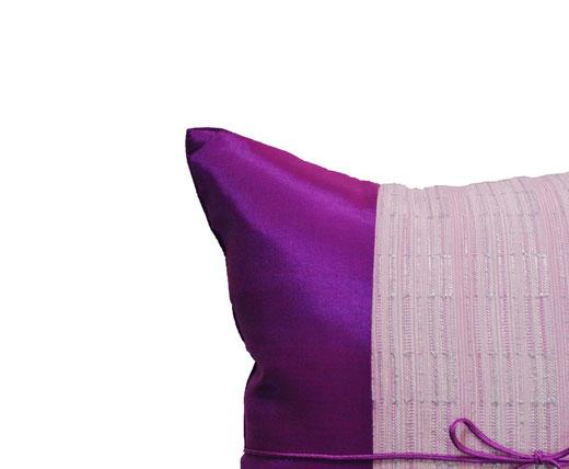 タイランド クッションカバー チェンマイ デザイン パープル 【Chiang Mai Design , Purple】 40×40cm の商品画像02