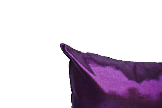 タイシルク クッションカバー  インフィニティ デザイン パープル 【Infinity Design , Purple】 の商品画像04