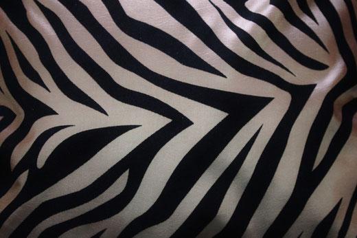 タイシルク クッションカバー  ゼブラ デザイン シャンパンゴールド 【Zebra Design , Champagne Gold】 45×45cm 対応の商品画像02
