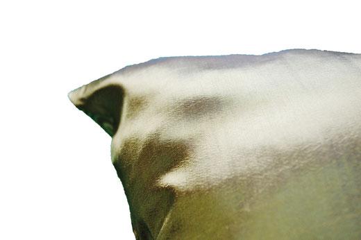 タイシルク クッションカバー  ゴールドリング デザイン グリーン 【Gold Ring Design , Green】 45×45cm 対応の商品画像07