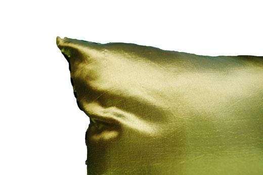 タイシルク クッションカバー  スクリュー デザイン グリーン 【Screw Design , Green】 45×45cm 対応の商品画像07
