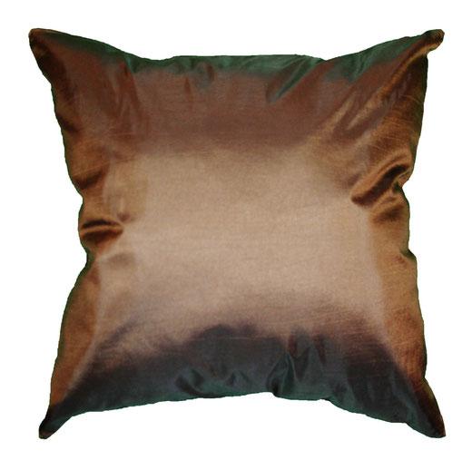 タイシルク クッションカバー  リングデザイン ブラウン 【Ring Design , Brown】 45×45cm 対応の商品写真04