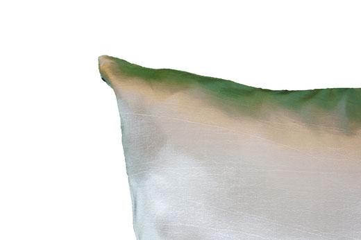 タイシルク クッションカバー  リングデザイン シルバー 【Ring Design , Silver】 45×45cm 対応の商品写真05
