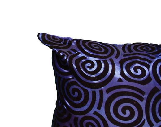 タイシルク クッションカバー  スクリューデザイン ブルー 【Screw Design , Blue】 45×45cm 対応の商品画像04