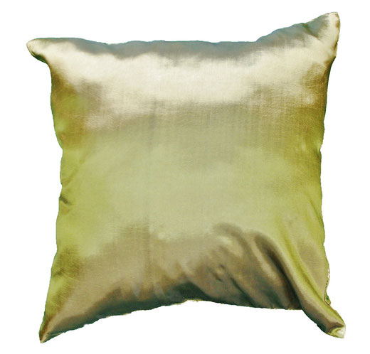 タイシルク クッションカバー  ゴールドリング デザイン グリーン 【Gold Ring Design , Green】 45×45cm 対応の商品画像05