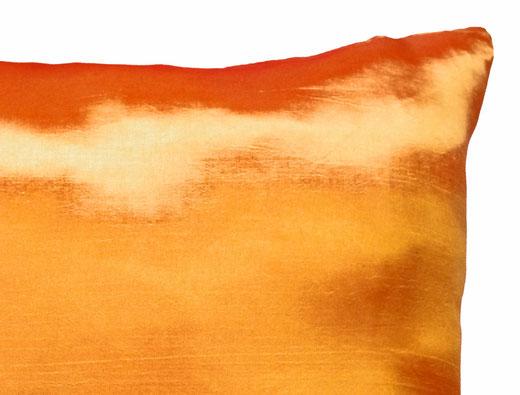 タイシルク クッションカバー  リングデザイン オレンジ 【Ring Design , Orange】 45×45cm 対応の商品写真04