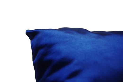 タイシルク クッションカバー  シンプル デザイン ブルー 【Simple Design , Blue】 の商品画像02