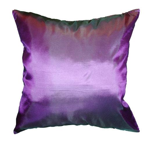 タイシルク クッションカバー  リーフ デザイン パープル 【Leaf Design , Purple】 45×45cm 対応の商品画像03