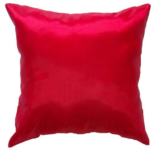 タイシルク クッションカバー  シンプル デザイン レッド 【Simple Design , Red】 の商品画像01