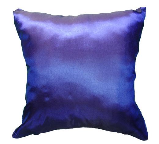 タイシルク クッションカバー  フラワー デザイン ブルー 【Flower Design , Blue】 45×45cm 対応の商品画像05