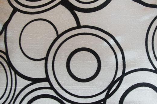 タイシルク クッションカバー  リングデザイン シルバー 【Ring Design , Silver】 45×45cm 対応の商品写真02