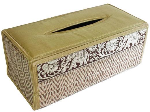 タイシルク ティッシュボックスケース ゴールドの商品画像01