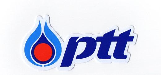 PTT タイ石油公社 ガソリンスタンド ロゴ ステッカー  デカール シール  Sサイズ 01 [タイ雑貨 アジアン雑貨]