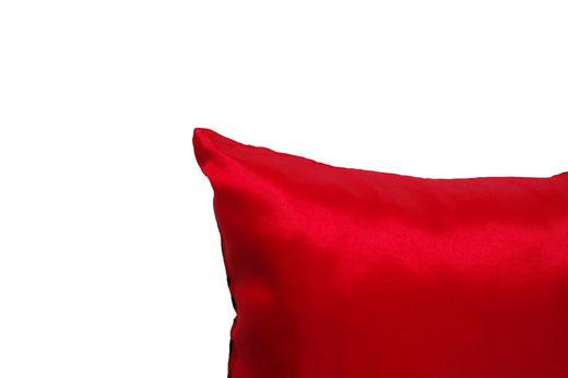 タイシルク クッションカバー  バンコク リーフ デザイン  レッド   【Bangkok Leaf Design , Red】 45×45cm 対応 05