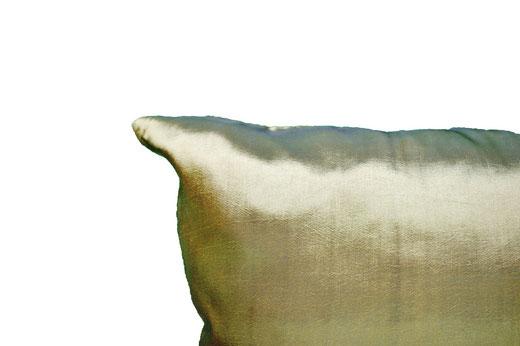 タイシルク クッションカバー  ゴールドリング デザイン グリーン 【Gold Ring Design , Green】 45×45cm 対応の商品画像06