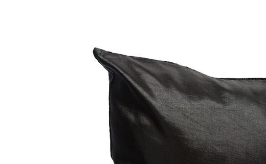 タイシルク クッションカバー  ロータス デザイン ブラック 【Lotus Design , Black】 45×45cm 対応 05