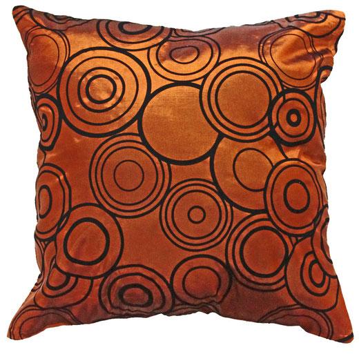 タイシルク クッションカバー  リングデザイン ブロンズ 【Ring Design , Bronze】 45×45cm 対応の商品写真01
