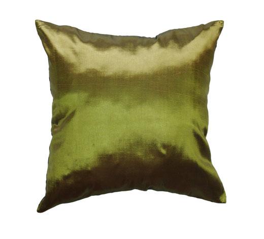 タイシルク クッションカバー  インフィニティ デザイン グリーン 【Infinity Design , Green】 の商品画像03