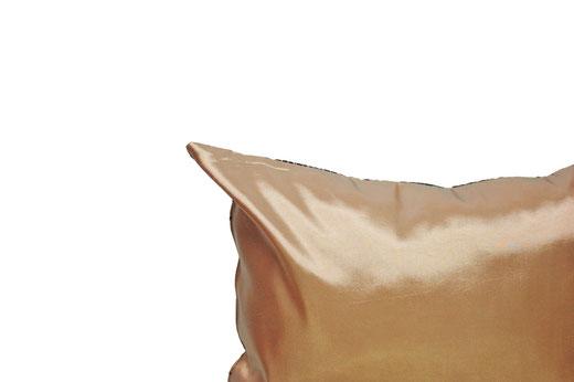 タイシルク クッションカバー  ロータス デザイン シャンパン ゴールド 【Lotus Design , Champagne Gold】 45×45cm 対応 05