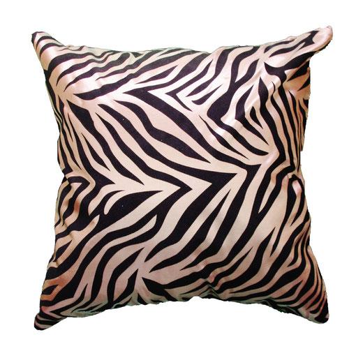 タイシルク クッションカバー  ゼブラ デザイン シャンパンゴールド 【Zebra Design , Champagne Gold】 45×45cm 対応の商品画像01