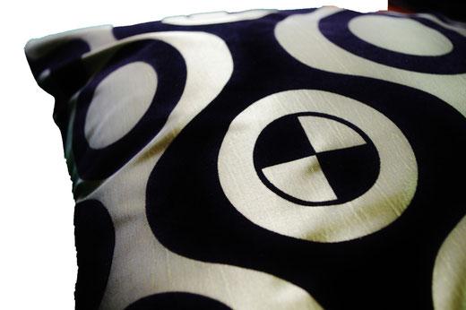 タイシルク クッションカバー  チェッカーデザイン グリーン 【Checker Design , Green】 45×45cm 対応の商品写真02