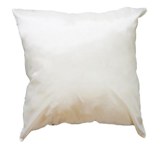 タイシルク クッションカバー  ロータス デザイン ホワイト 【Lotus Design , White】 45×45cm 対応 04