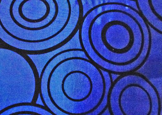 タイシルク クッションカバー  リングデザイン ブルー 【Ring Design , Blue】 45×45cm 対応の商品写真02