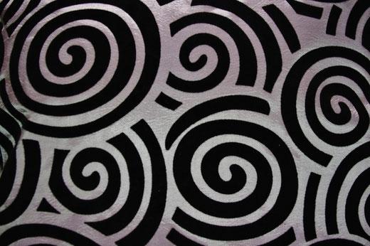 タイシルク クッションカバー  スクリュー デザイン シルバー 【Screw Design , Silver】 45×45cm 対応の商品画像02