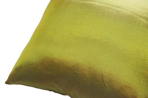 タイシルク クッションカバー  リーフ デザイン グリーン 【Leaf Design , Green】 45×45cm 対応の商品写真04