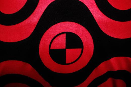 タイシルク クッションカバー  チェッカーデザイン レッド 【Checker Design , Red】 45×45cm 対応の商品写真02