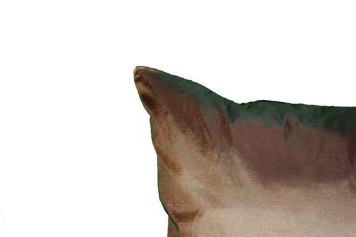 タイシルク クッションカバー  リングデザイン ブラウン 【Ring Design , Brown】 45×45cm 対応の商品写真05
