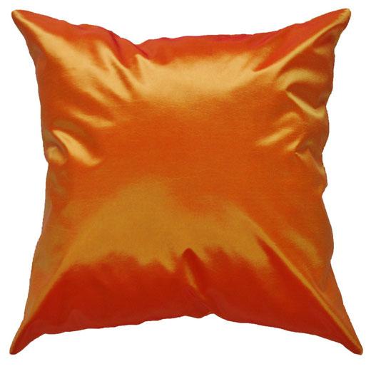 タイシルク クッションカバー  シンプル デザイン オレンジ 【Simple Design , Orange】 の商品画像01