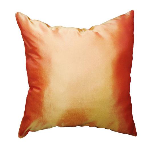 タイシルク クッションカバー  フラワー デザイン オレンジ 【Flower Design , Orange】 45×45cm 対応の商品画像04