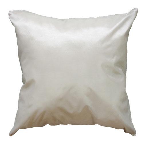 タイシルク クッションカバー  バンコク リーフ デザイン  ホワイト   【Bangkok Leaf Design , White】 45×45cm 対応 04