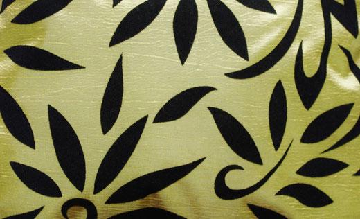 タイシルク クッションカバー  バンコク リーフ デザイン  グリーン   【Bangkok Leaf Design , Green】 45×45cm 対応 02