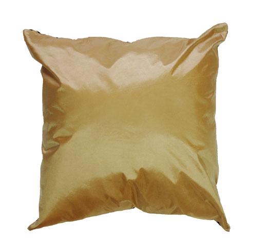 タイシルク クッションカバー  インフィニティ デザイン ゴールド 【Infinity Design , Gold】 の商品画像03