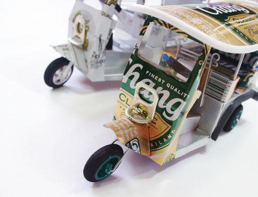 ハンドメイド トゥクトゥク (TUK TUK) チャーンビール(ビアチャン) Chang Beer メインの商品写真01 [タイ雑貨 アジアン雑貨 タイ旅行おみやげ]