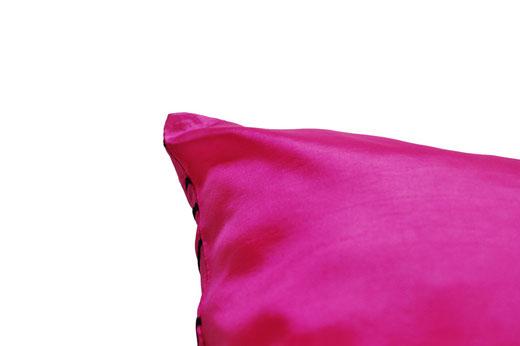 タイシルク クッションカバー  インフィニティ デザイン ピンク 【Infinity Design , Pink】 の商品画像04