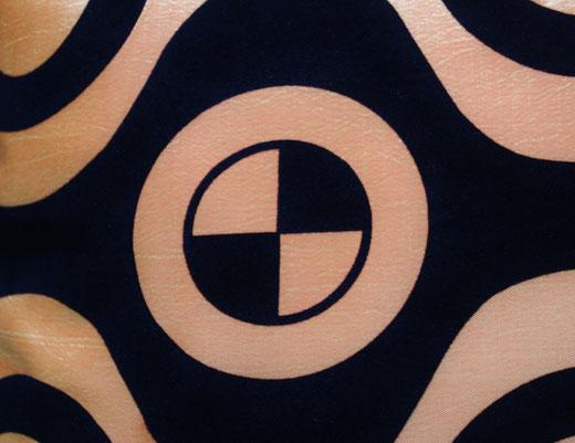 タイシルク クッションカバー  チェッカーデザイン オレンジ 【Checker Design , Orange】 45×45cm 対応の商品写真02