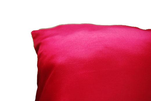 タイシルク クッションカバー  ゴールドリング デザイン レッド 【Gold Ring Design , Red】 45×45cm 対応の商品画像06