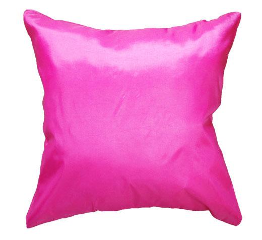 タイシルク クッションカバー  フラワー デザイン ピンク 【Flower Design , Pink】 45×45cm 対応の商品画像05