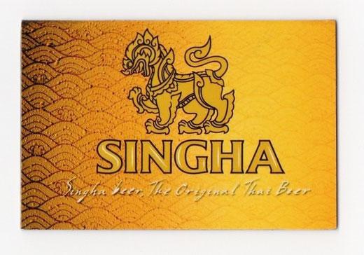 シンハー ビール マグネット type B(ゴールド×横タイプ) 1枚 【タイ雑貨 Thailand SHINGHA Beer Magnet】の商品画像01